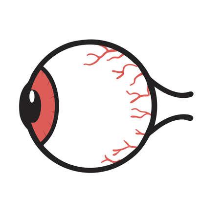 Human red eyeball Anatomy  vector Illustration Vettoriali