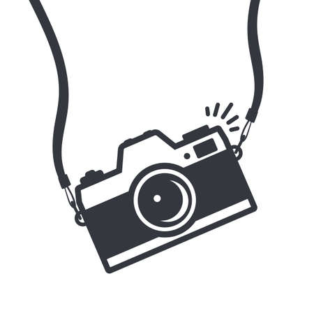 camera with strap icon symbol vector isolated