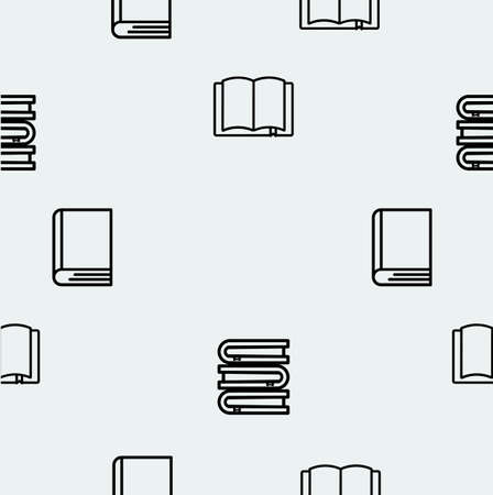 books line vector seamless pattern