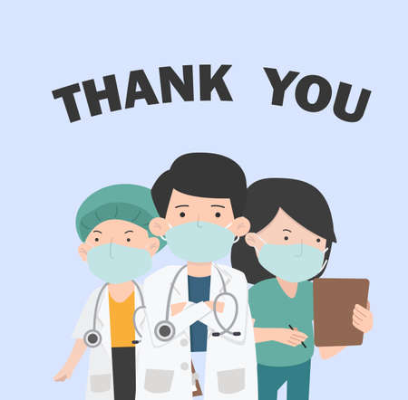 Doctors and nurse Thank you medical staff  CONCEPT