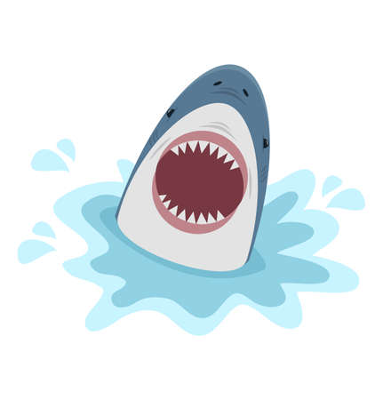 Big shark with open mouth Vektorgrafik