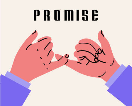 Two businessman hands promise gesturing vector sign