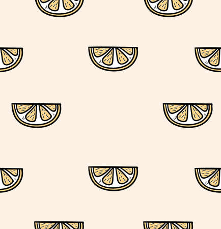 slice of a orange seamless pattern background