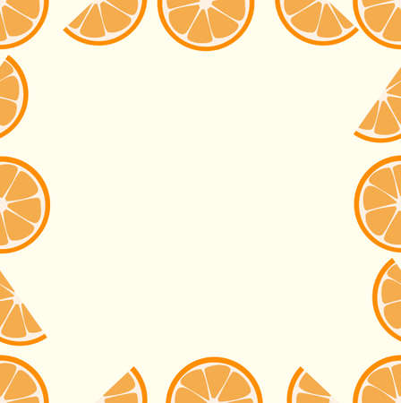 oranges fruit  vector Seamless pattern background
