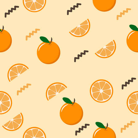 Citrus slice  oranges fruit  Seamless pattern background