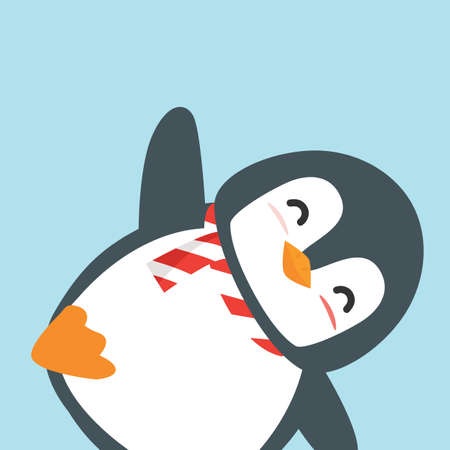 cute happy penguin cartoon vector eps10