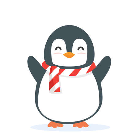 Cute Penguin animal cartoon vector eps10