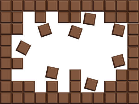 Milk chocolate bar vector background eps10