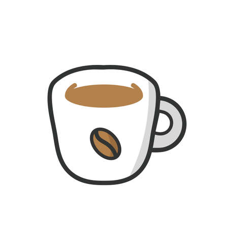 coffee cup icon food vector eps10