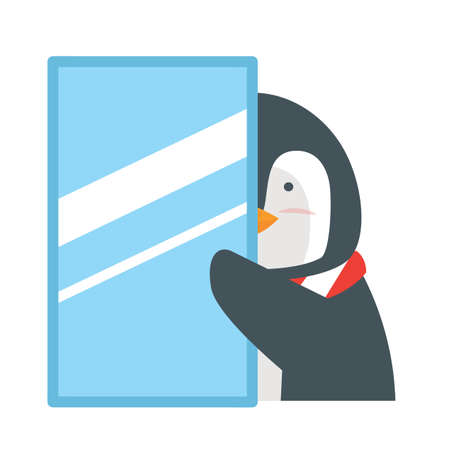 Cute Penguin animal cartoon Design