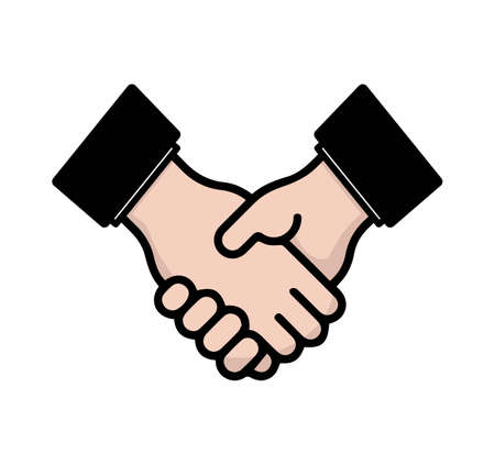 businessman shaking hand agreement business partners icon concept