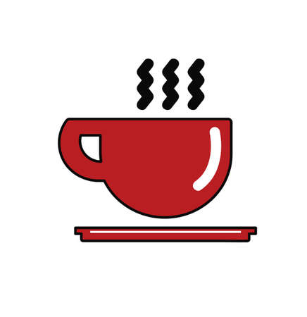 Red Coffee cup icon Vectores