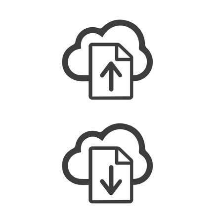 Upload sign vector icon long shadow eps10 Vectores