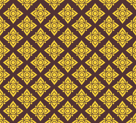 Line Thai Fabric  seamless pattern background vector 矢量图像