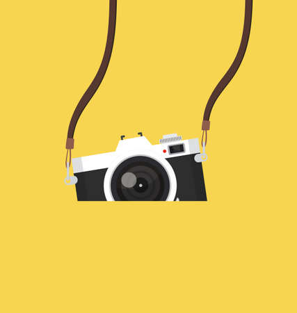 vintage camera hanging vector background eps10