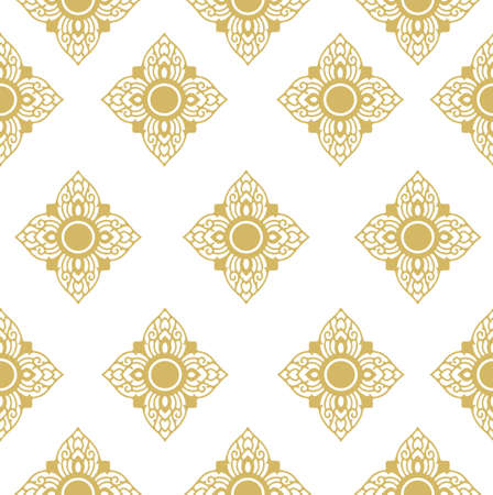 Thai Line Fabric tradional seamless pattern