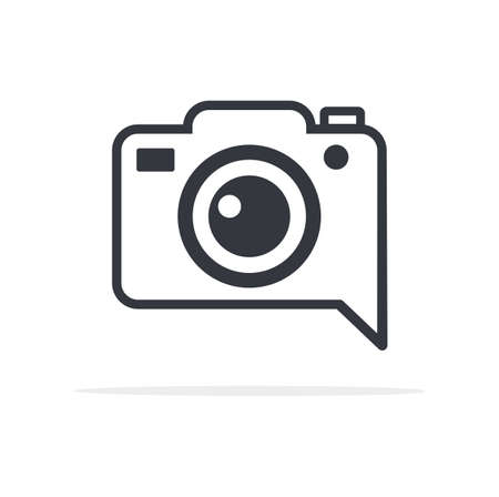 photo camera icon symbol flat style sign