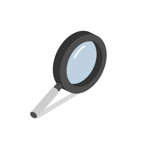 Magnifying glass vector sign isometric eps10