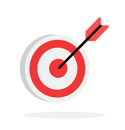 target red  with arrow  line design vector 矢量图像