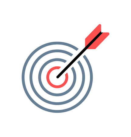 target red  with arrow  line icon