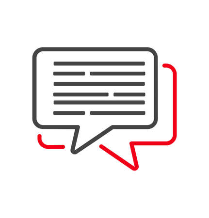 Typing in a chat bubble icon sign vector