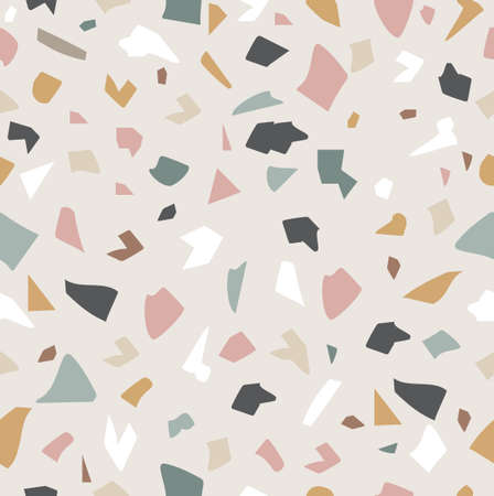 Pastel Terrazzo floor granito stone background eps10