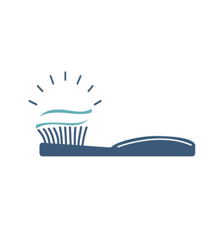 toothbrush with toothpaste icon vector eps10