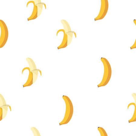 Bananas fruit seamless pattern background Illustration