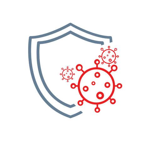 shield to protect from COVID-19 Coronavirus protection icon sign