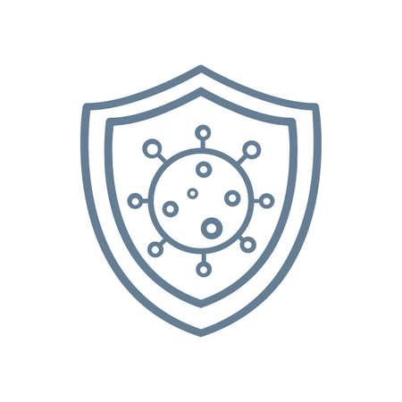Knight shield to protect from COVID-19 Coronavirus protection icon