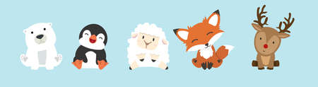 Cute  animals cartoon collection set