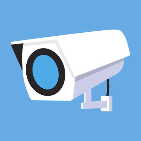 CCTV Security camera flat vector concept Illustration