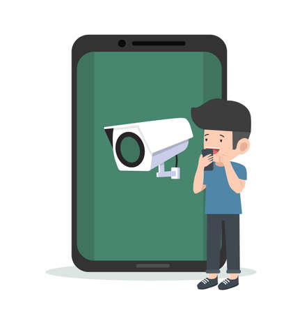 CCTV Security camera with Mobile Phone