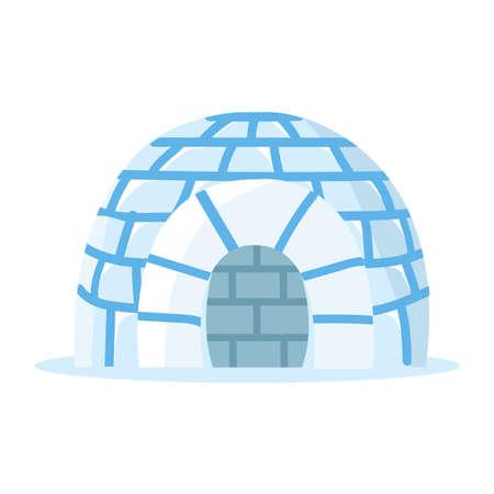 Ice igloo ice house vector Illustration