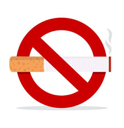 Cigarette filters No Smoking Sign concept vector