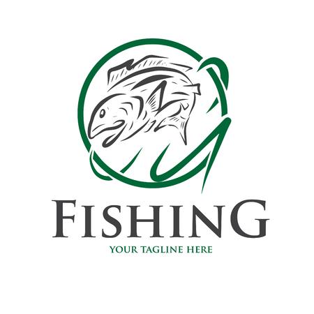 icona e logo per la pesca e altro