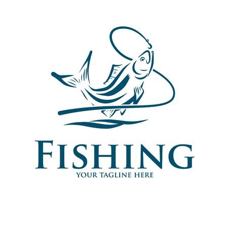 Logo und Symbol zum Angeln Logo