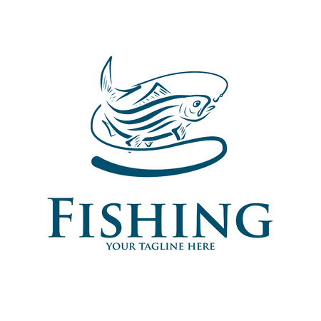 logo and icon for fishing Foto de archivo - 108328590