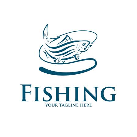 logo et icône pour la pêche Logo