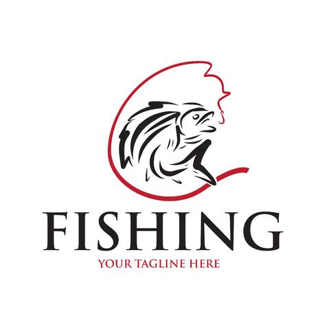 logo e icono para pescar