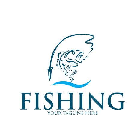 Logo und Symbol zum Angeln