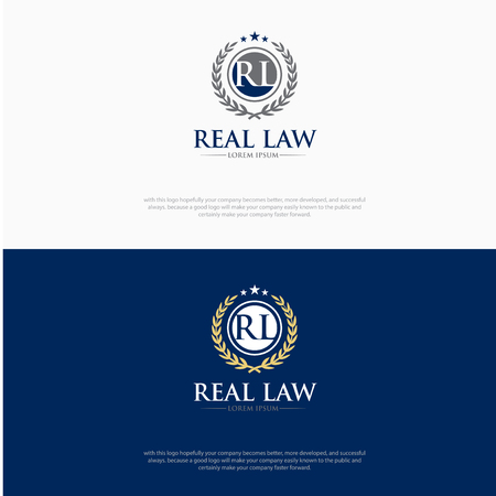 RL LAW LOGO DESIGNS