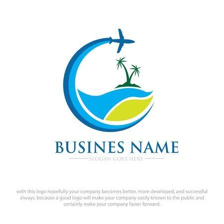 conceptions de logo de voyage