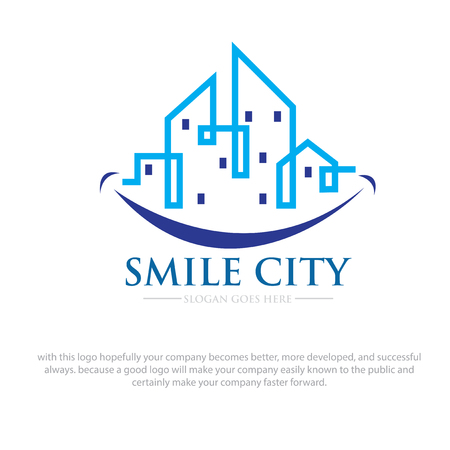 smile city logo designs