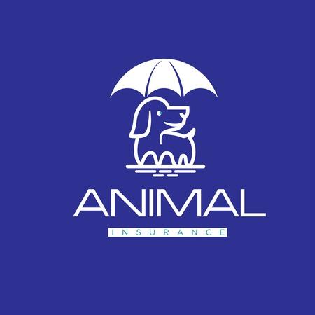 animal insurance logo designs Illusztráció