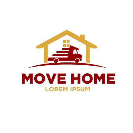 conceptions de logo de déménagement par courrier