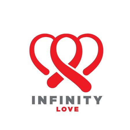 infinity love logo designs Banque d'images - 114361996