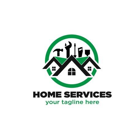 conceptions de logo de service à domicile