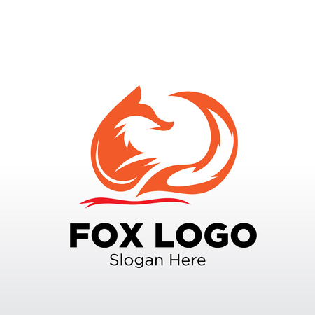 fox logo designs Vectores