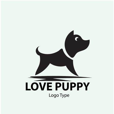 puppy logo designs Standard-Bild - 117596968